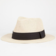 Banded Womens Straw Panama Hat
