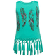 FULL TILT Feather Knot Fringe Girls Tank