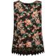 FULL TILT Floral Print Crochet Trim Girls Hi Neck Tank