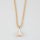 THE GOLD GODS Micro Pyramid Head Necklace