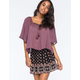 FULL TILT Crochet Womens Peasant Top