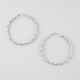 FULL TILT Mesh Twist Hoop Earrings