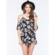 FULL TILT Cold Shoulder Womens Romper