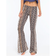 H.I.P. Vertical Floral Print Womens Flare Pants
