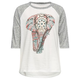FULL TILT Ethnic Fill Elephant Girls Raglan Tee