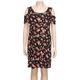 H.I.P. Ditsy Floral Girls Cold Shoulder Dress