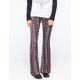 FULL TILT Vertical Ethnic Womens Flare Pants