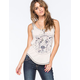 FULL TILT Geo Lion Cross Back Womens Tank