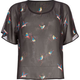 FULL TILT Bird Print Girls Chiffon Circle Top