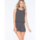 FULL TILT Diamond Tile Womens Popover Romper