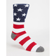 BLUE CROWN American Flag Mens Crew Socks