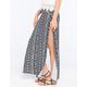 FULL TILT Fold Over Waist Floral Maxi Skirt