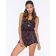 FULL TILT Ethnic Print Womens Tube Romper