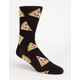 BLUE CROWN Pizza Fer Dayz Mens Crew Socks