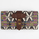 Tribal Print Fold-Over Wallet
