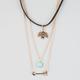 FULL TILT 3 Pack Bird Choker/Arrow/Turquoise Necklaces