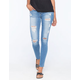 FLYING MONKEY Destructed Womens Skinny Jeans