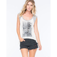 NEFF Woodstock Collection The Line Up Womens Raglan Tank