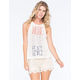 NEFF Woodstock Collection Hi Neck Music Love Peace Womens Tank