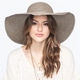 Straw Textured Womens Floppy Hat