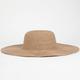 Straw Textured Womens Floppy Hat