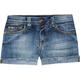VIGOSS Raw Roll Cuff Girls Denim Shorts