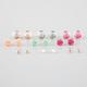 FULL TILT 9 Pairs Stone/Flower/Ball Earrings