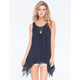 BLU PEPPER Lace Overlay Womens Tank