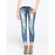 ALMOST FAMOUS 2 Button Destructed Womens Skinny Jeans