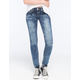 ALMOST FAMOUS Acid Wash Womens Knit Skinny Jeans