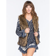 FULL TILT Womens Fur Vest