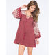 ANGIE Twin Bell Sleeve Peasant Dress