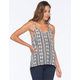 FULL TILT Linear Print Womens Cami