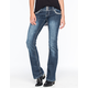 AMETHYST JEANS 3 Button Womens Flare Jeans