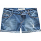 TRUE SOULMATE Cuff Womens Denim Shorts