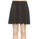 FULL TILT Scallop Hem Ponte Girls Skater Skirt