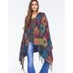 WOVEN HEARTS Hooded Ethnic Womens Poncho