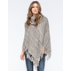 WOVEN HEART Marled Cowl Womens Poncho Sweater