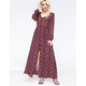 ANGIE Floral Button Front Maxi Dress