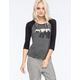 FULL TILT Bear Womens Raglan Tee