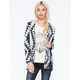 WOVEN HEART Two Tone Hooded Womens Cardigan