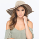 Ombre Straw Womens Floppy Hat