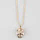 KING ICE 14K Gold Roaring Lion Necklace