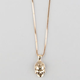 KING ICE 14K Gold Buddha Face Necklace