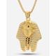 KING ICE 14K Gold Egyptian Pharaoh CZ necklace
