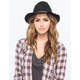 Suede Braided Womens Fedora