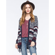 WOVEN HEART Mixed Diamond Stripe Womens Cardigan