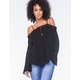 SOCIALITE Crochet Womens Cold Shoulder Top