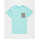 SHOUTHOUSE Geo Banks Boys Pocket Tee