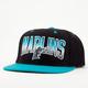 AMERICAN NEEDLE Hayes Marlins Mens Snapback Hat